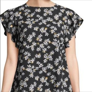 NEW Ruffle Sleeve Woven Floral Blouse- L